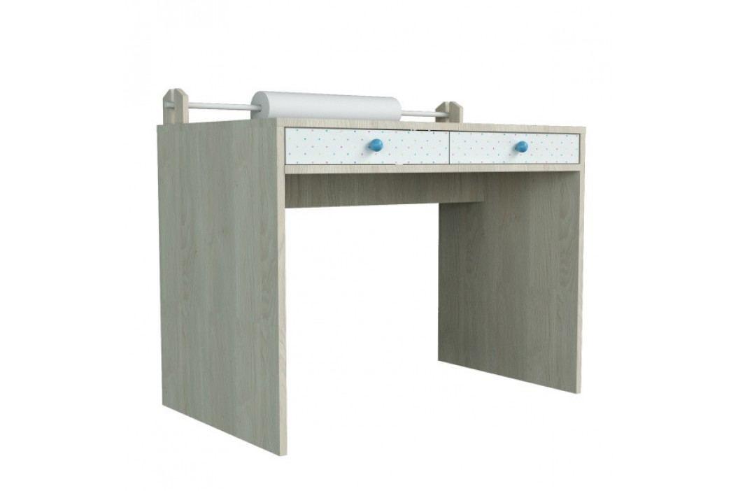 Větší psací stůl s modrými detaily Dotties
