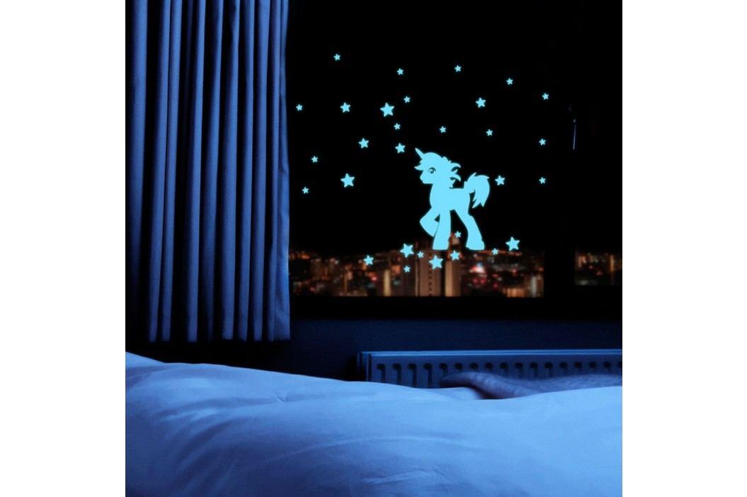 Svítící samolepka Fanastick Unicorn With Stars obrázek inspirace
