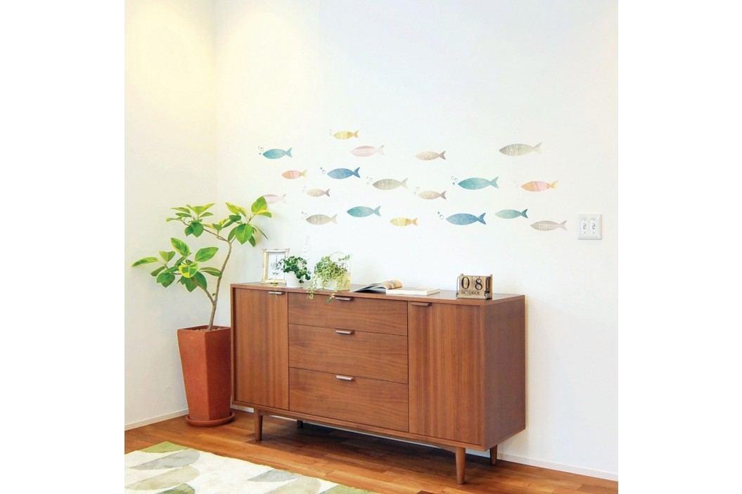 Samolepka Ambiance Fish Wall