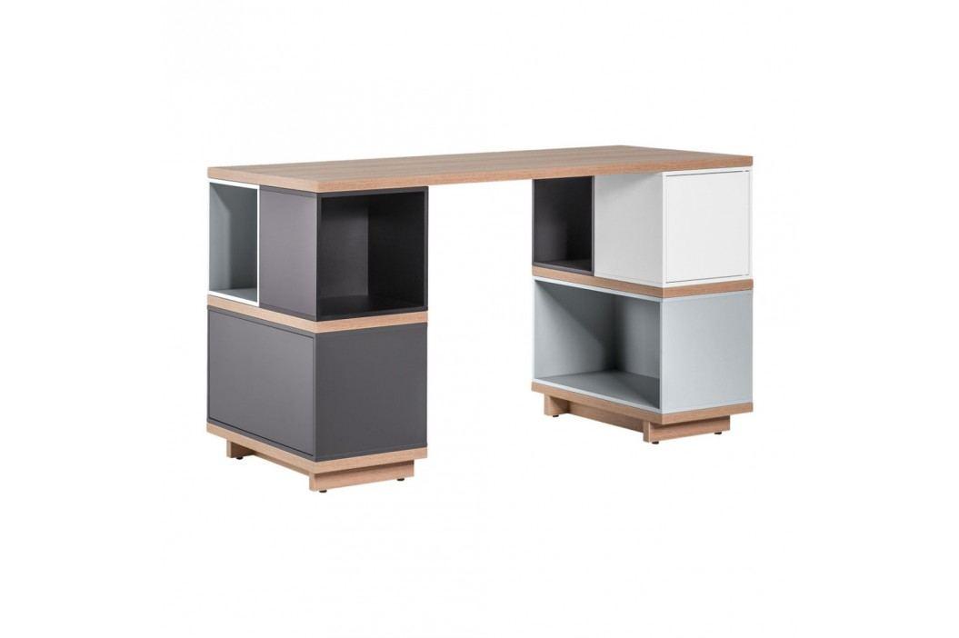 Šedý pracovní stůl Vox Balance