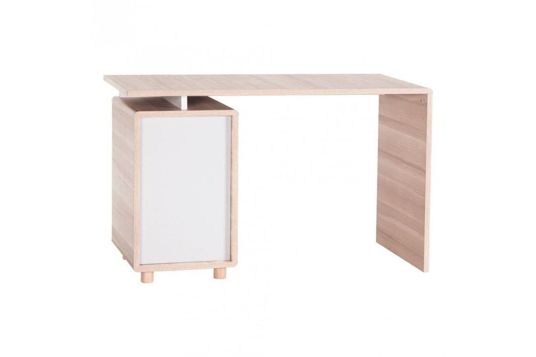 Pracovní stůl s bílými dvířky Vox Evolve