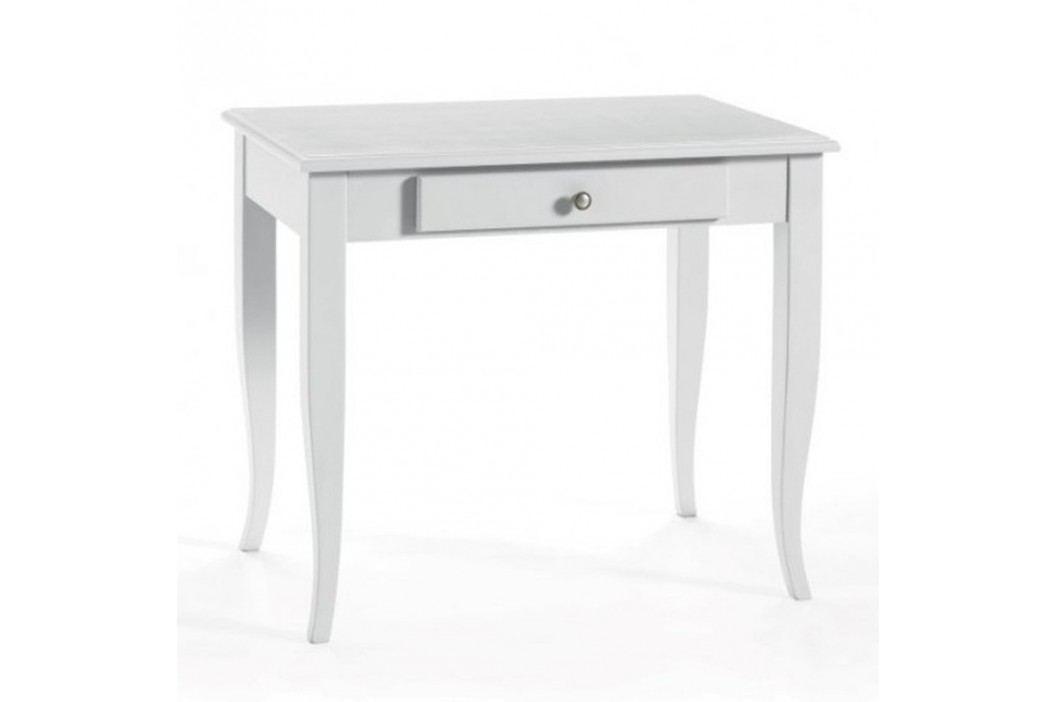 Bílý dřevěný pracovní stůl se zásuvkou Castagnetti Alghero