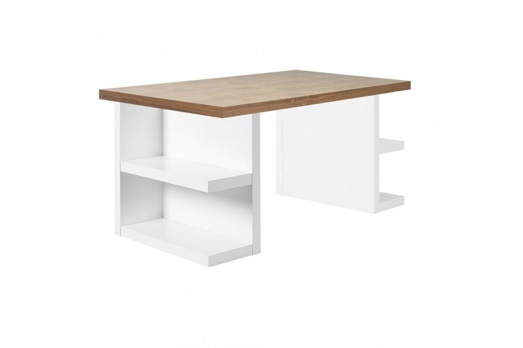 Hnědý pracovní stůl TemaHome Multi, délka 160 cm