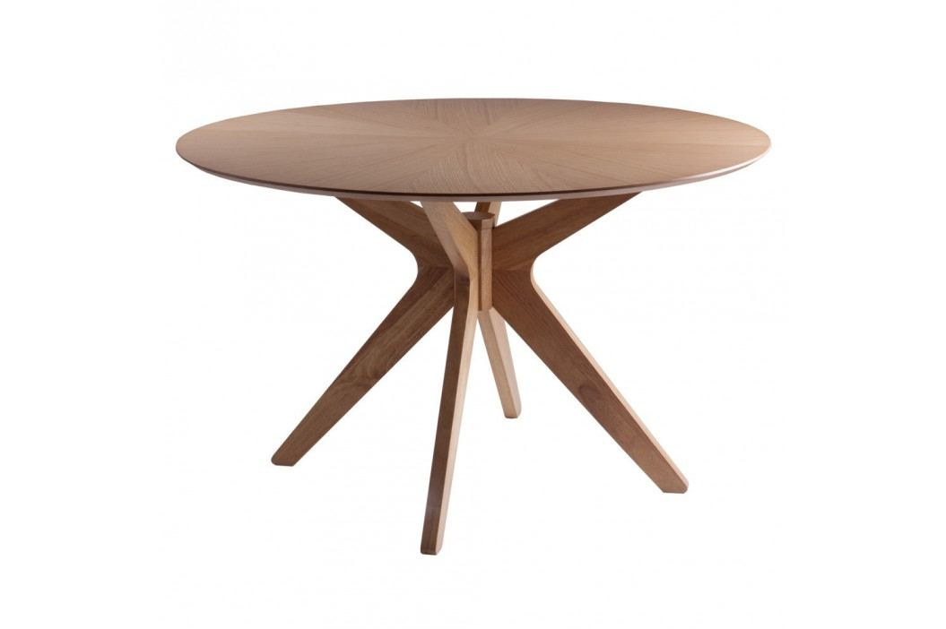 Jídelní stůl v dekoru dubového dřeva sømcasa Carmel, ⌀120cm