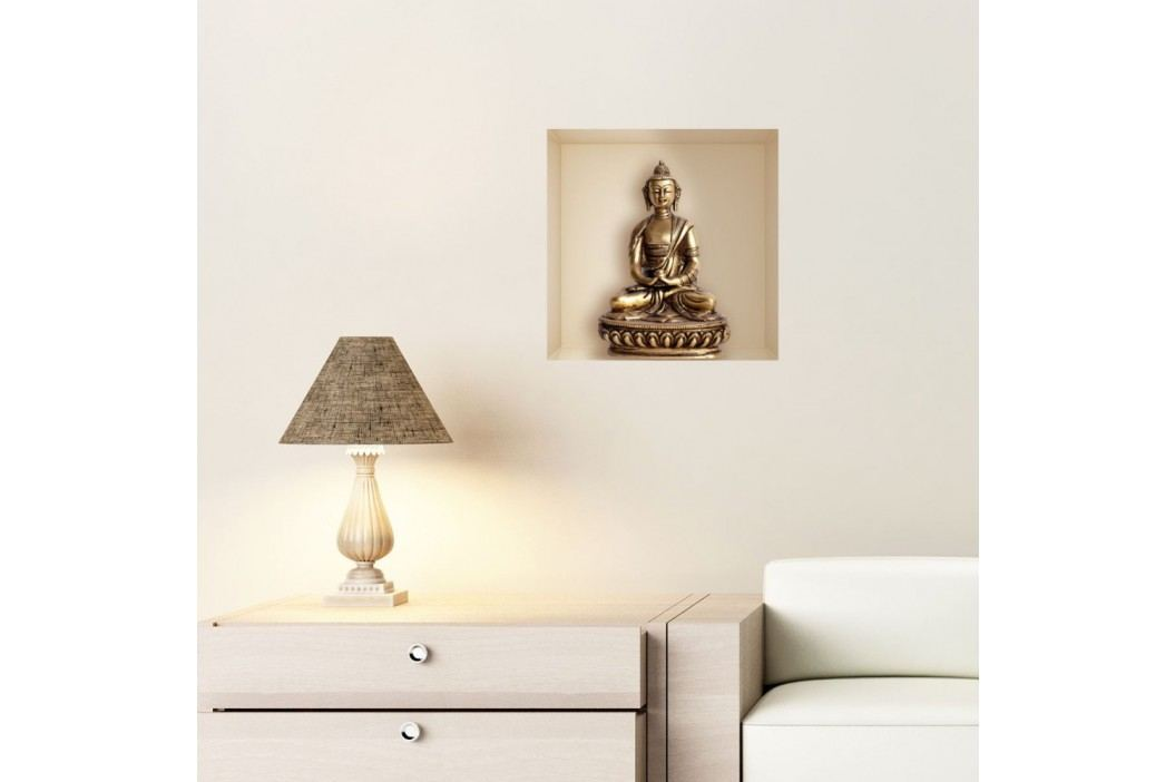 Samolepka s 3D efektem Fanastick Buddha Statue