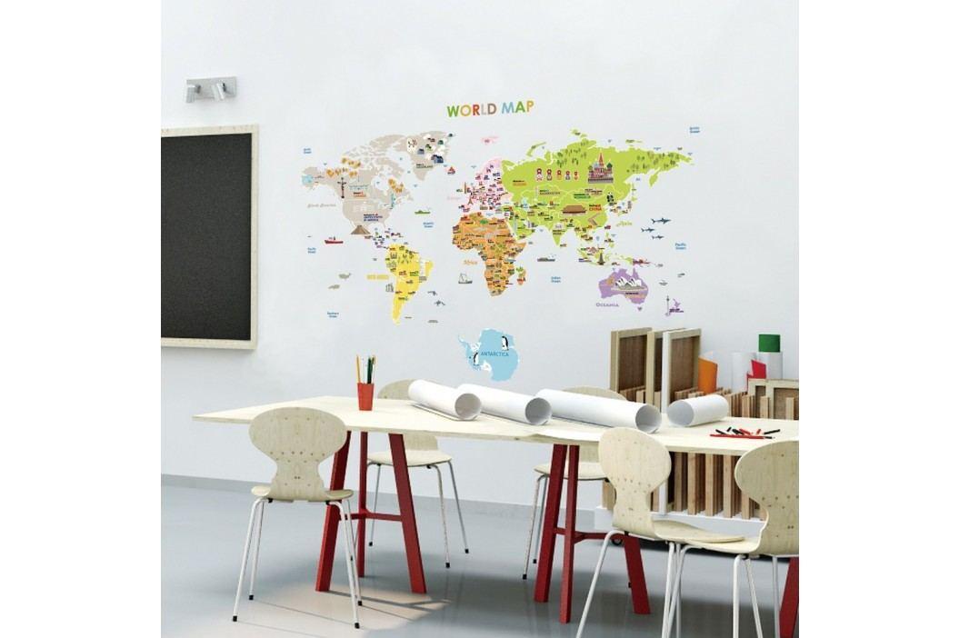 Nástěnná samolepka Ambiance World Map
