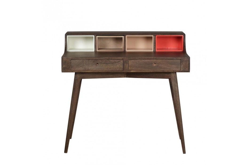 Pracovní stůl z masivního mangového dřeva Woodjam Play Dark