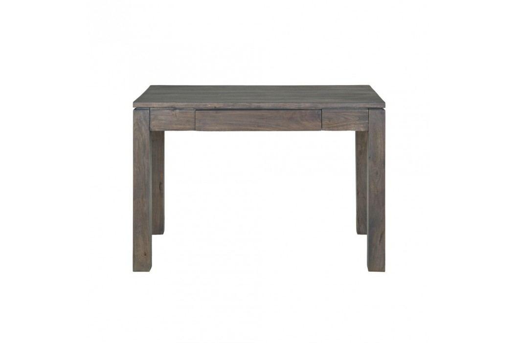 Pracovní stůl  z masivního šedě mořeného akáciového dřeva Woodjam Zara