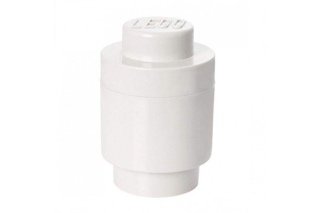 Bílý úložný kulatý box LEGO®, ⌀ 12,5 cm