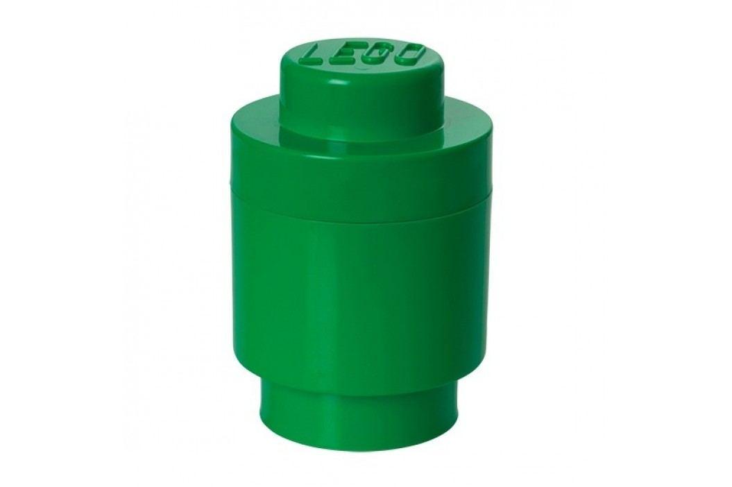 Zelený úložný kulatý box LEGO®, ⌀ 12,5 cm