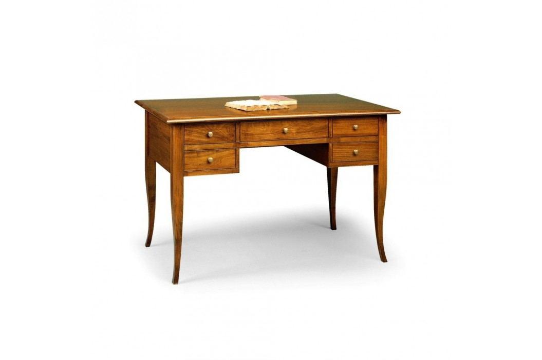 Dřevěný pracovní stůl s 5 zásuvkami Castagnetti Eleganza