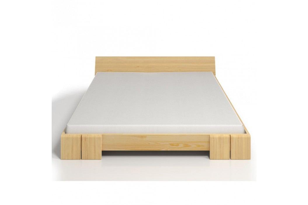 Dvoulůžková postel z borovicového dřeva SKANDICA Vestre, 140x200cm
