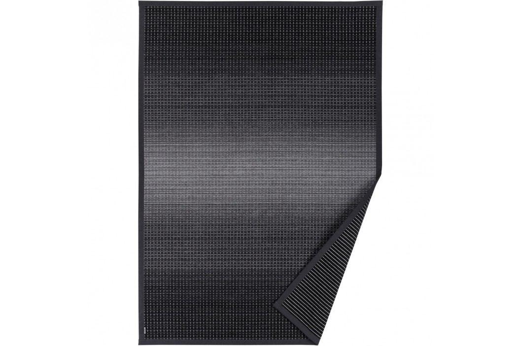 Antracitově šedý vzorovaný oboustranný koberec Narma Moka, 70 x 140cm obrázek inspirace