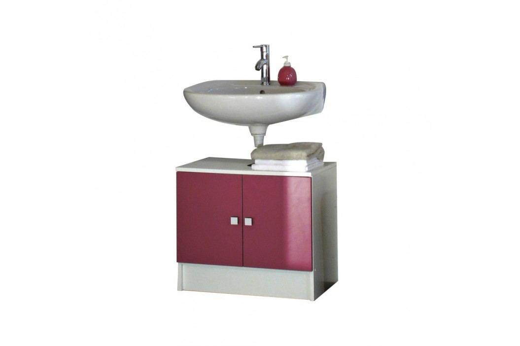 Růžová koupelnová skříňka pod umyvadlo Symbiosis André