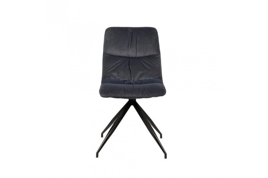 Antracitová jídelní židle LABEL51 Spider