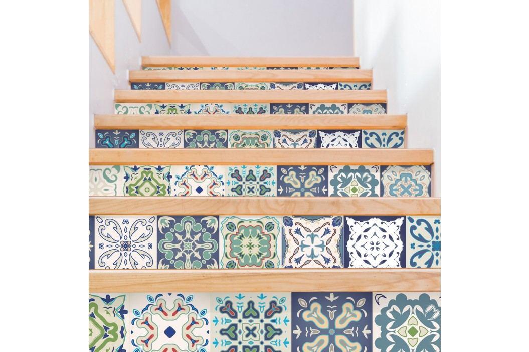Sada 2 samolepek na schody Ambiance Cabiria, 15 x 105 cm