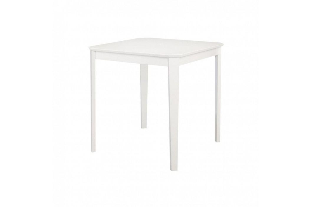 Bílý jídelní stůl Støraa Trento, 76x75cm