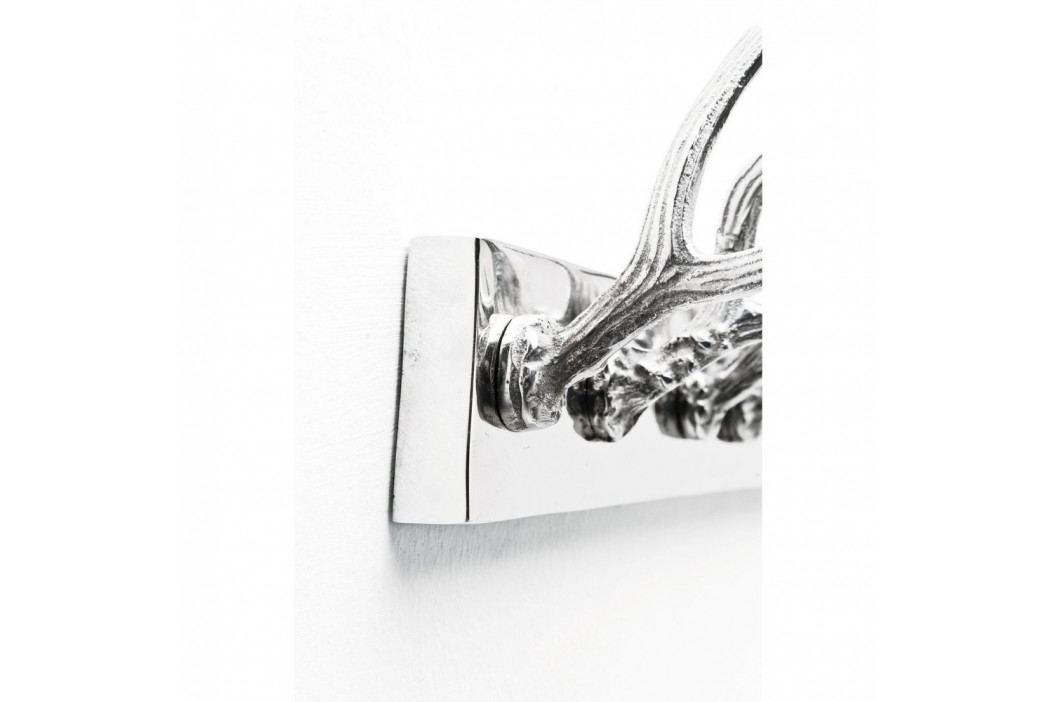 Nástěnný věšák ve stříbrné barvě Kare Design Huntsman