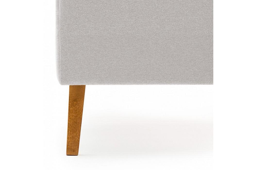 Dětská šedá postel PumPim Noa, 200x90cm