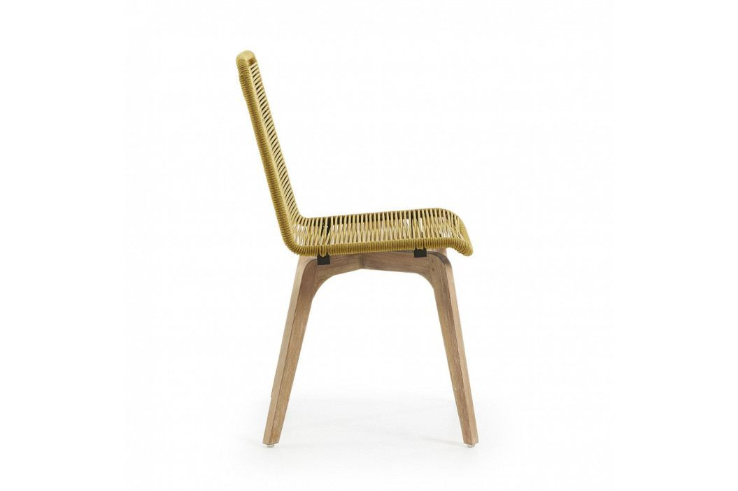 Sada 2 hořčicově žlutých židlí La Forma Glendon