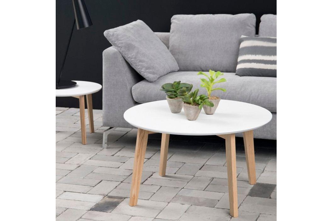 Bílý konferenční stolek Actona Molina, ⌀ 80 cm obrázek inspirace