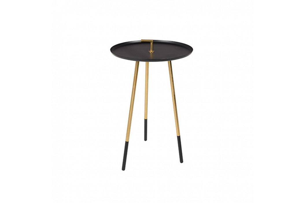 Černý odkládací stolek White Label Rumbi