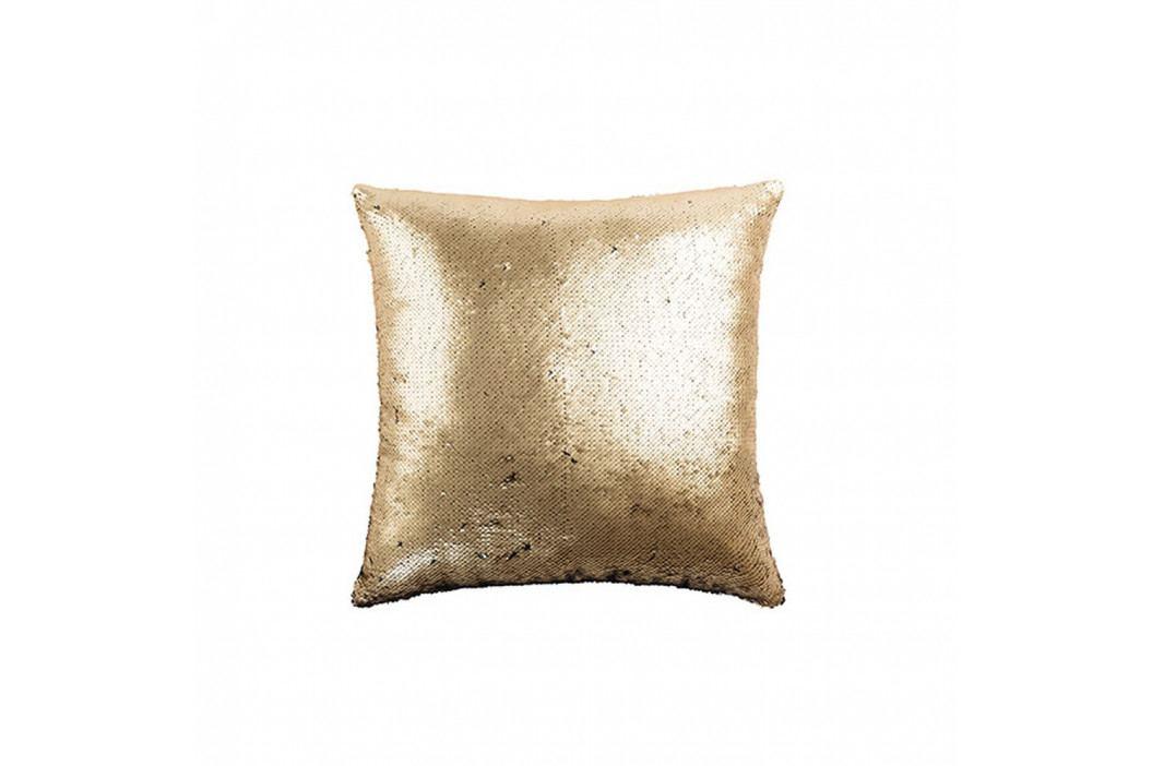 Polštář ve zlaté barvě White Label Lois, 45x45cm