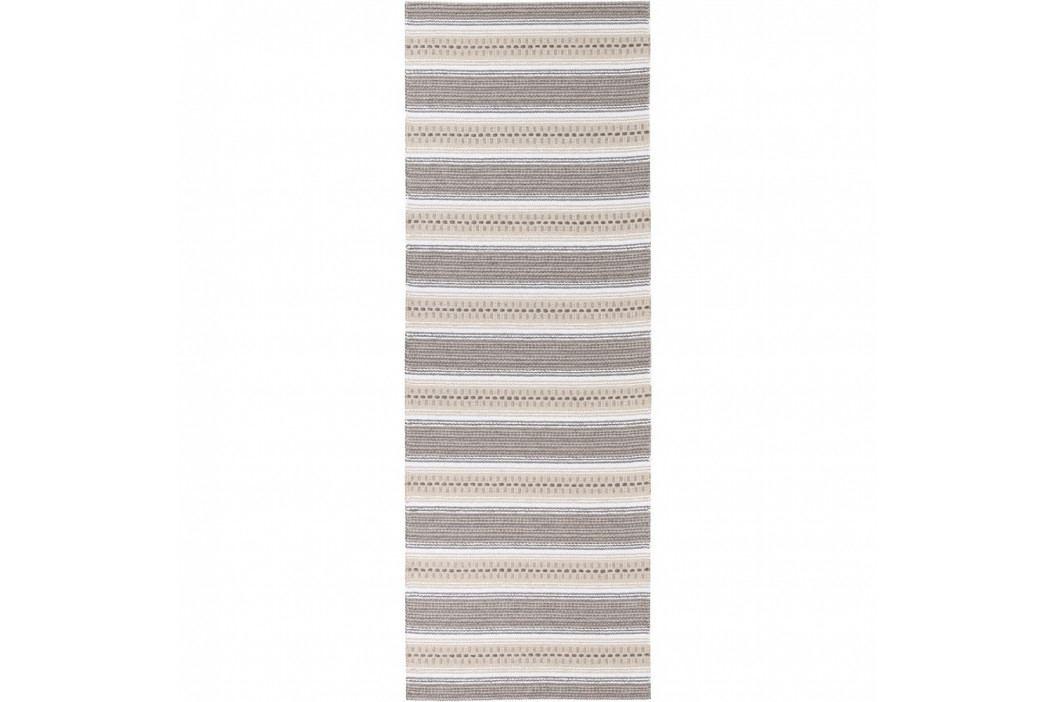 Hnědý běhoun vhodný do exteriéru Narma Runo, 70x300cm obrázek inspirace
