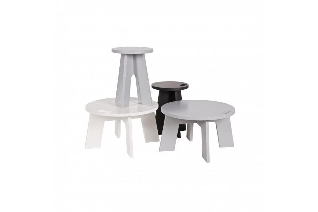 Světle šedý konferenční stolek z borovicového dřeva vtwonen Grip obrázek inspirace