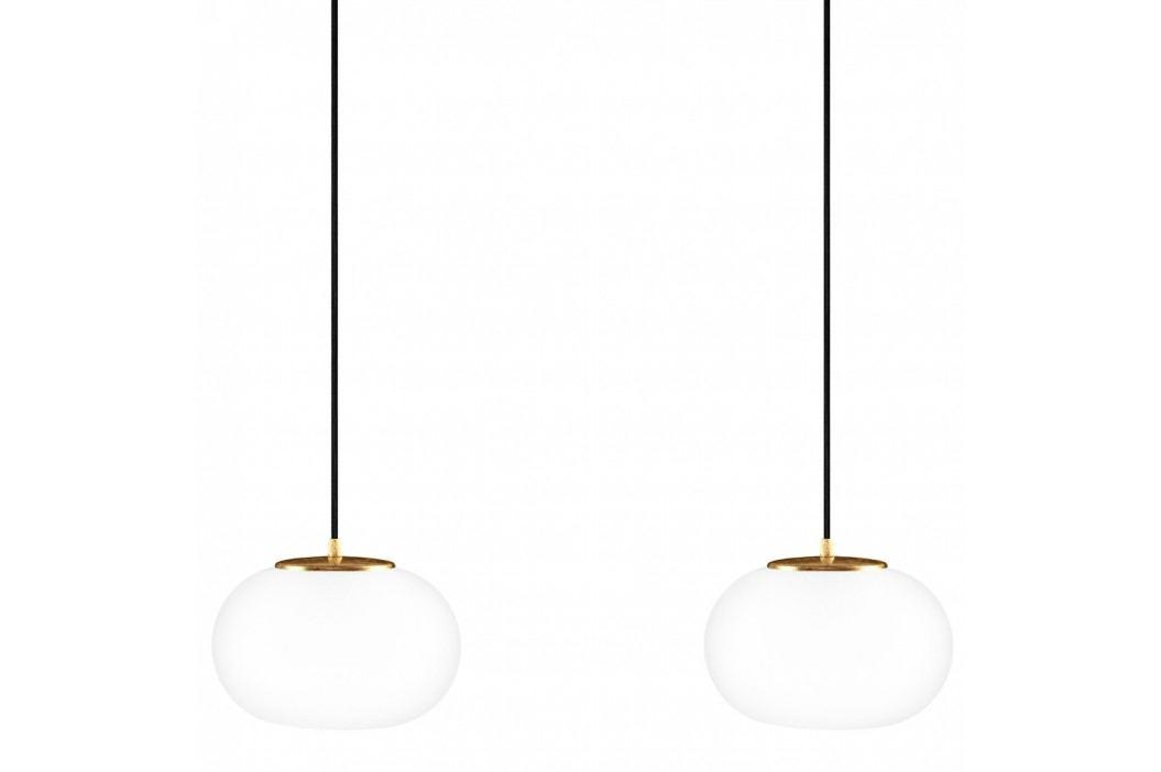 Černé dvojité závěsné svítidlo s detaily ve zlaté barvě Sotto Luce DOSEI