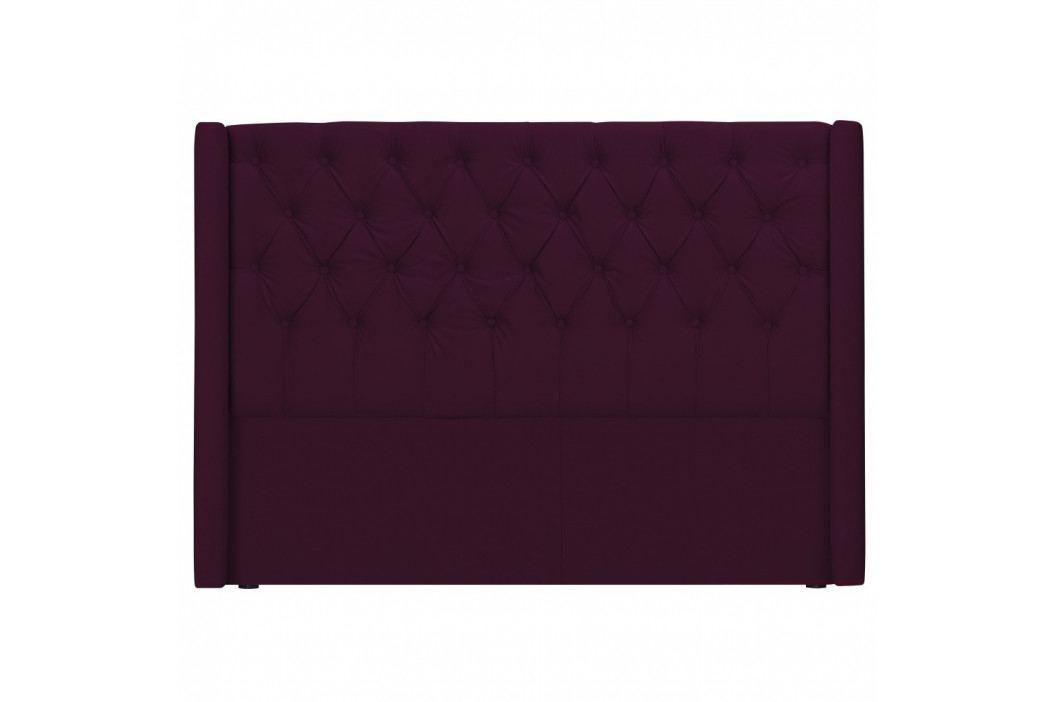 Červené čelo postele Windsor & Co Sofas Queen, 216 x 120 cm