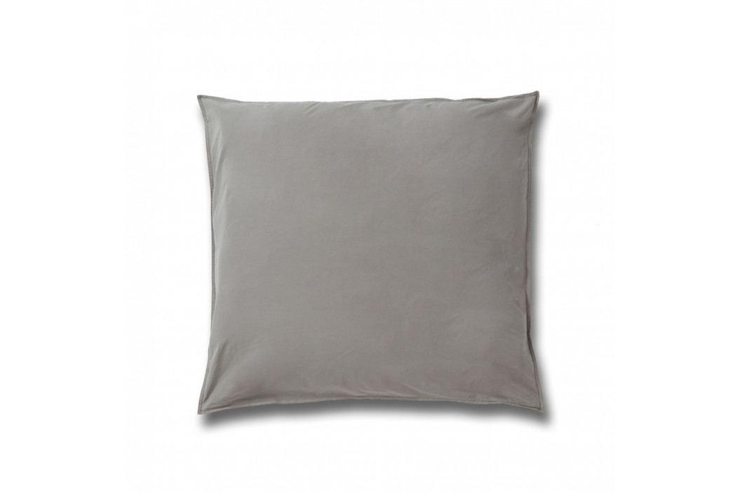 Šedý povlak na polštář z bavlněného perkálu Casa Di Bassi, 80x80cm