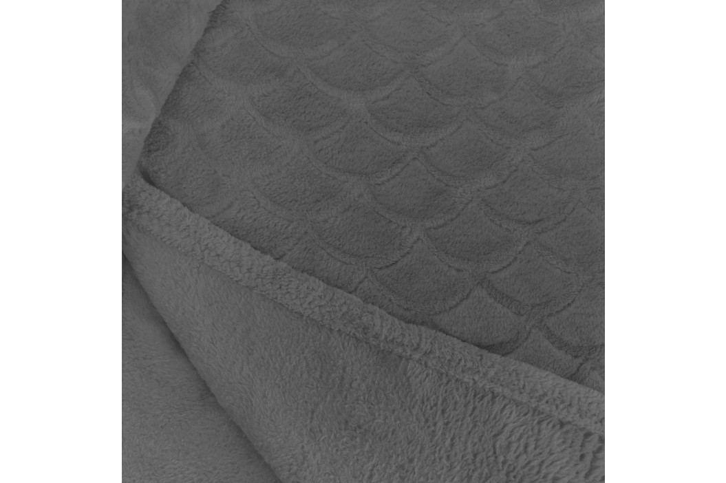 Šedá deka z mikrovlákna DecoKing Sardi, 170 x 200 cm