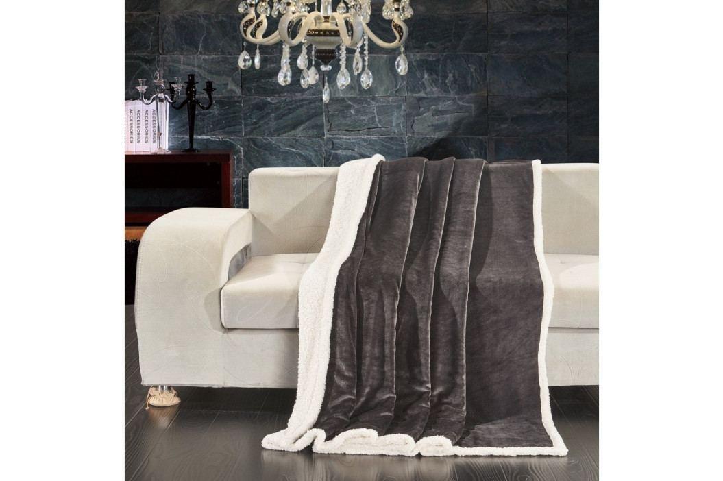 Šedá deka z mikrovlákna DecoKing Dimgray, 220 x 240 cm