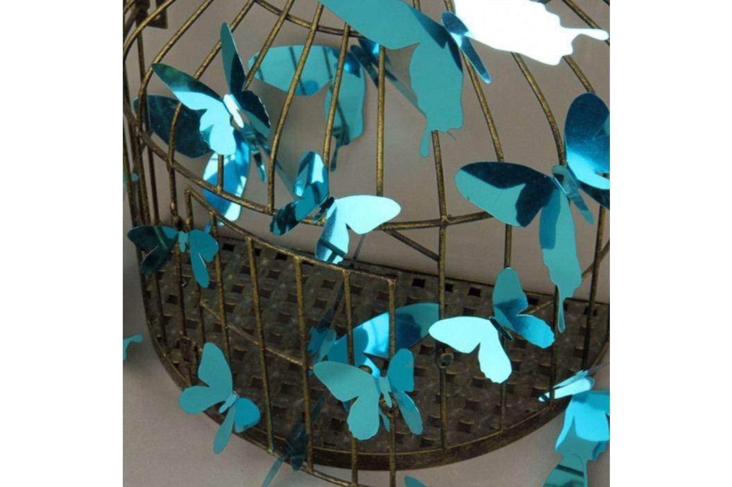 Sada 12 modrých adhezivních 3D samolepek Ambiance Butterflies