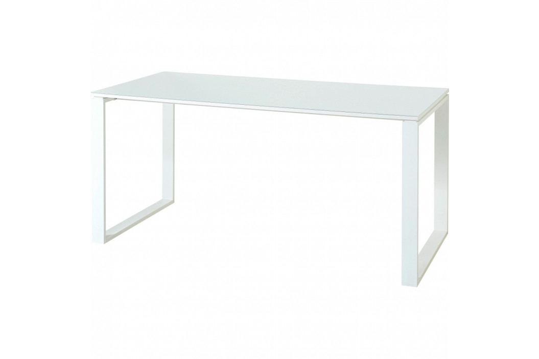 Bílý pracovní stůl Germania Monteria