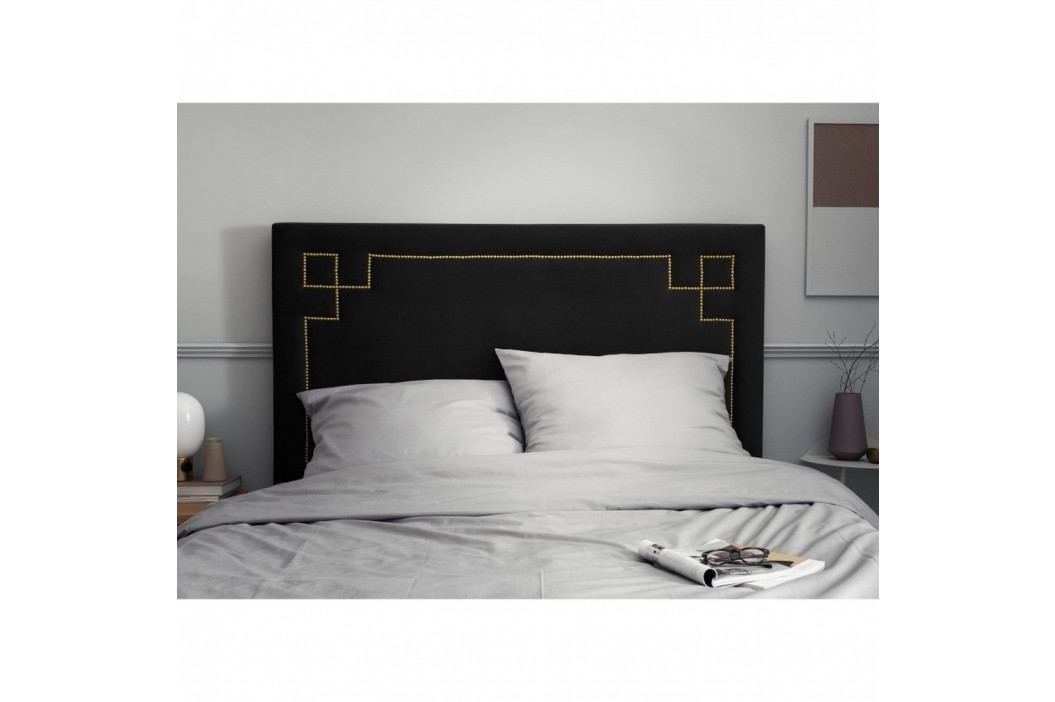 Černé čelo postele THE CLASSIC LIVING Nicolas, 120 x 180 cm