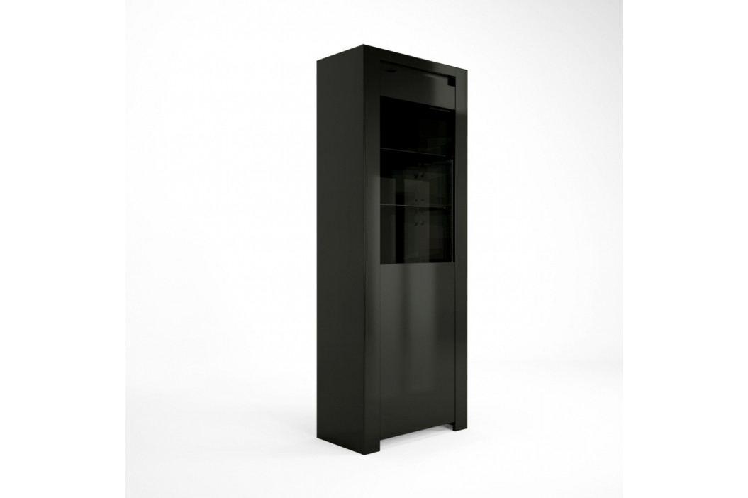Černá vitrína Artemob Orlando, 68 x 180 cm
