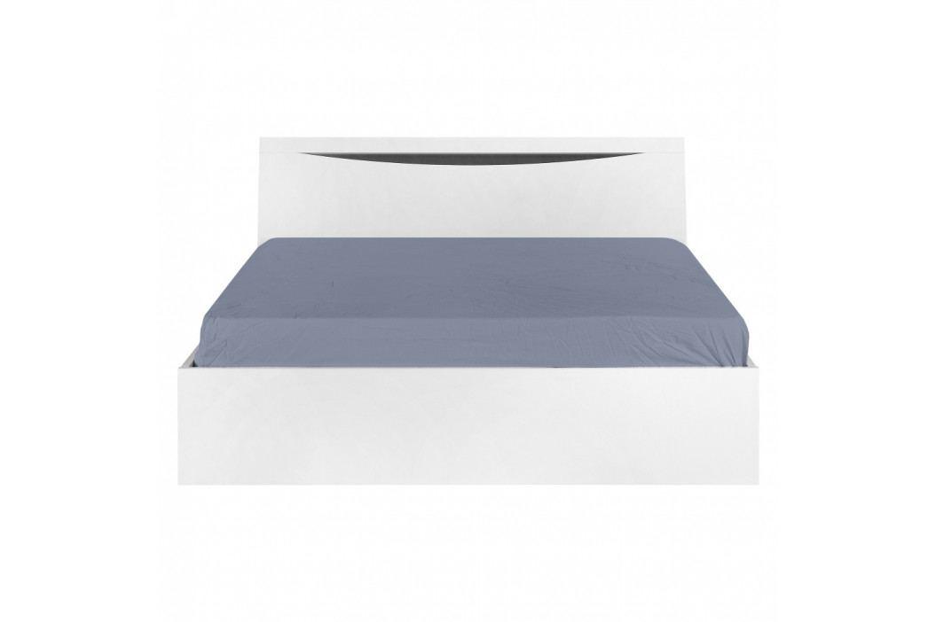 Bílá postel Artemob Letty, 140 x 200 cm