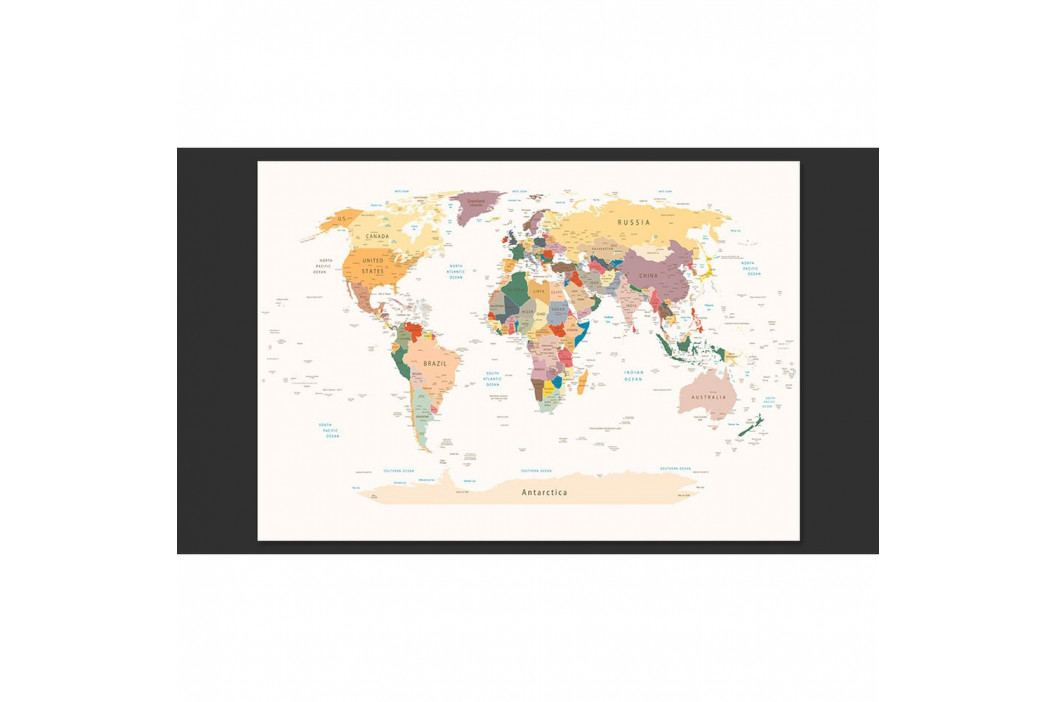 Velkoformátová tapeta Artgeist World Map, 300x210cm obrázek inspirace