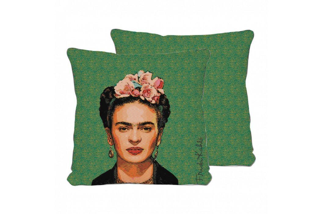 Oboustranný povlak na polštář s příměsí lnu Madre Selva Frida Draw, 45x45cm