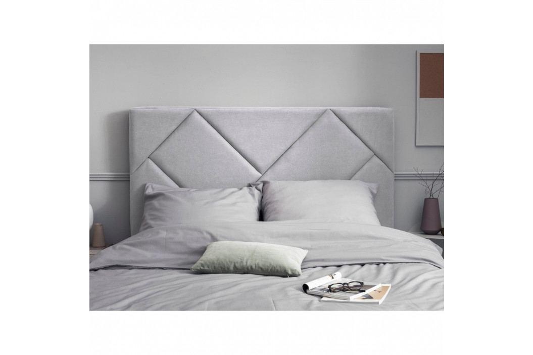 Světle šedé čelo postele HARPER MAISON Annika, 200 x 120 cm