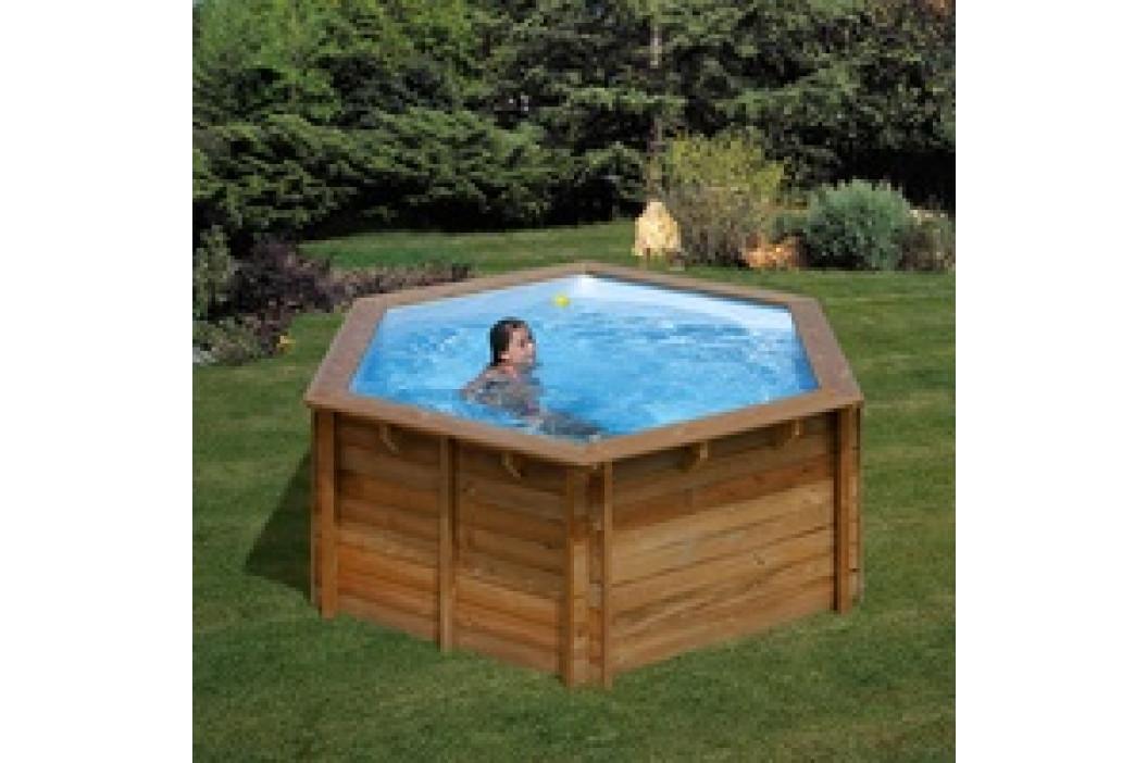 Bazén GRE Nature Wood Vanille 4,12 x 1,19m set s pískovou filtrací 4m3/h