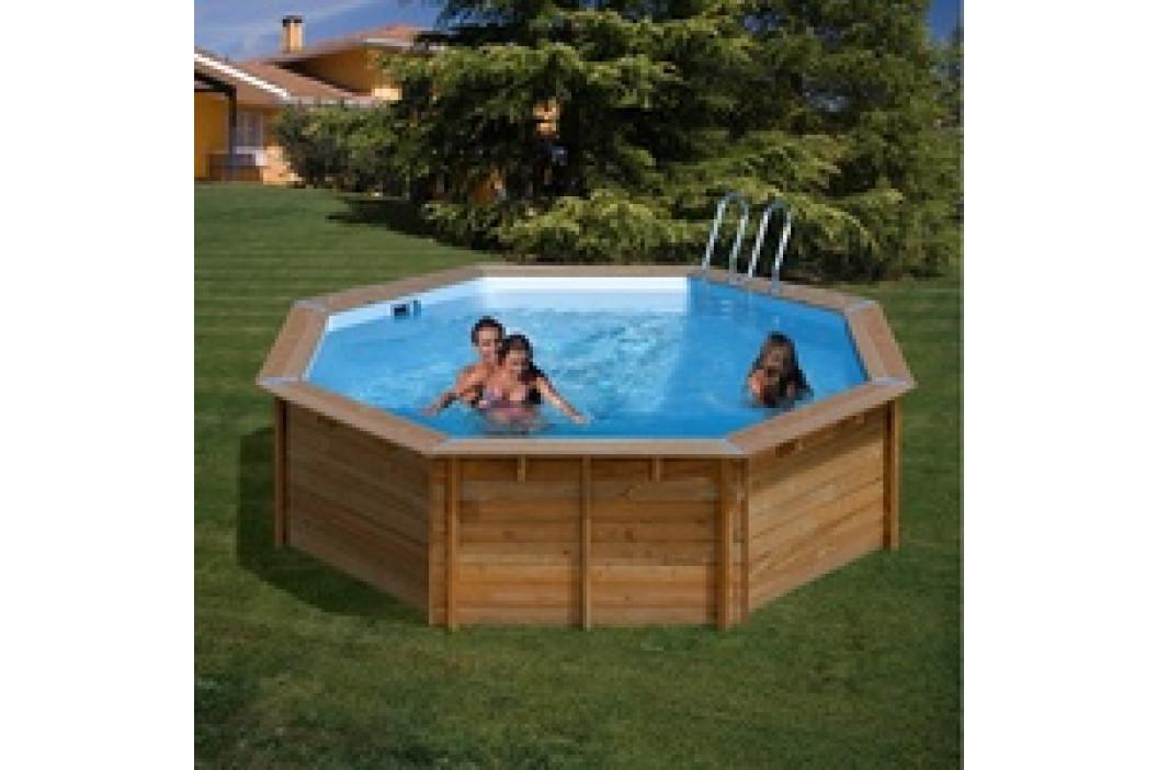 Bazén GRE Nature Wood Violette 5,11 x 1,24m set s pískovou filtrací 6m3/h