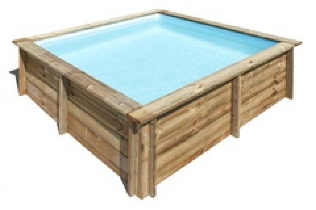 Bazén GRE Nature Wood City 2,25 x 2,25 x 0,68m set s kartušovou filtrací 2m3/h