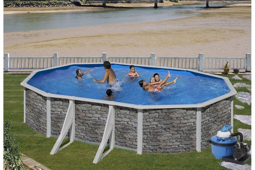 Bazén GRE Iraklion 5,0 x 3,0 x 1,2m set + písková filtrace 4,5m3/h