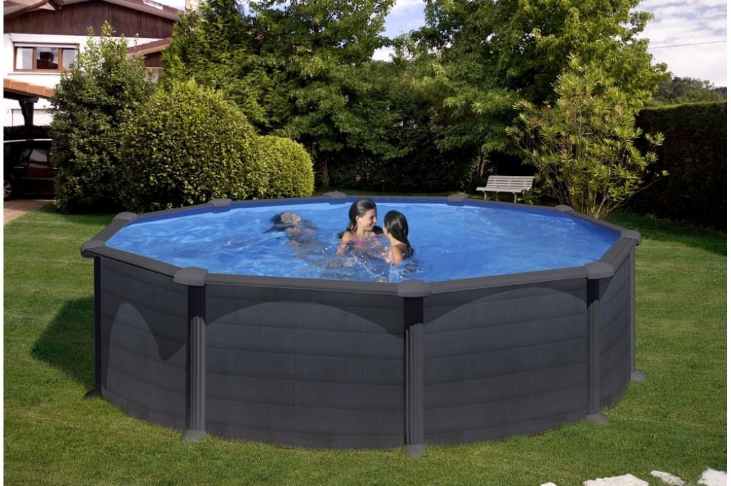 Bazén GRE Graphite 4,6 x 1,32m set + písková filtrace 6m3/h