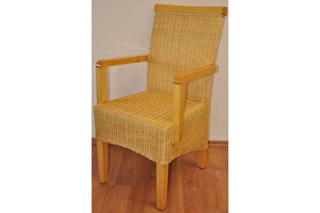 Axin Trading Ratanová židle Larissa s područkou