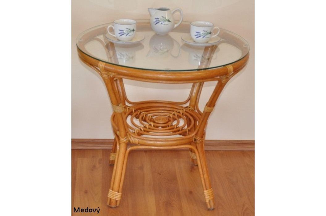 Axin Trading Ratanový stolek Bahama Medový
