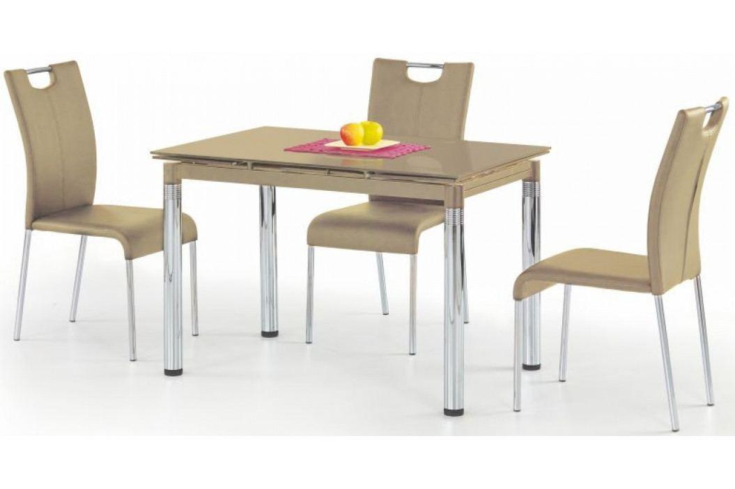 Halmar Jídelní stůl L-31 Béžové sklo